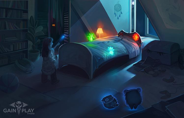 Monster under the Bed Concept Art